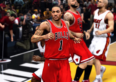 NBA 2K13 Derrick Rose Cyberface Patch