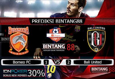Prediksi Skor Borneo FC vs Bali United Jumat 18 Oktober 2019