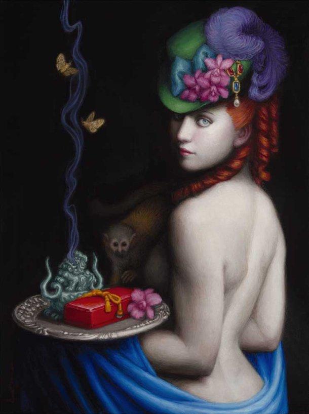 Chie Yoshii pinturas a óleo mulheres clássicas seminuas pele clara seios peitos