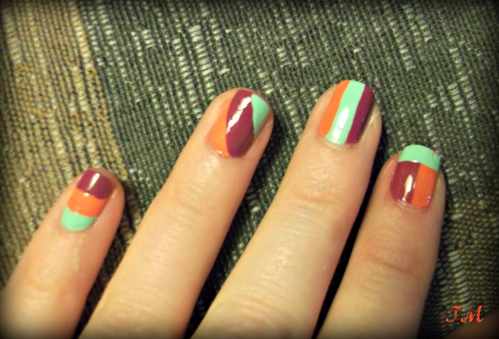 Neon lines nail art design Nail It Girl! Pinterest
