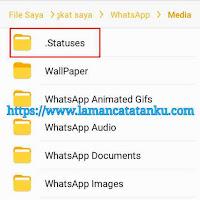 menghapus file status whatsapp untuk mengatasi penyimpanan internal penuh