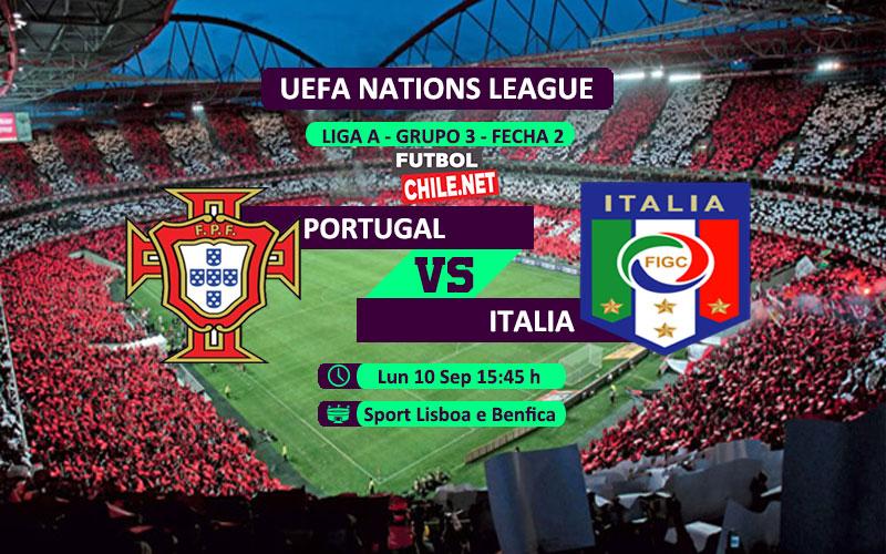 Mira Portugal vs Italia en vivo y online por la Segunda Fecha del Grupo 3 de la Liga A de UEFA Nations League