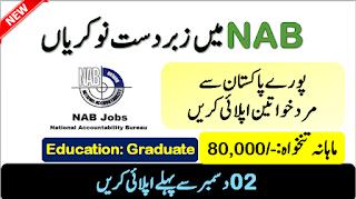 NAB New Jobs 2019 National Accountability Bureau www.nab.gov.pk