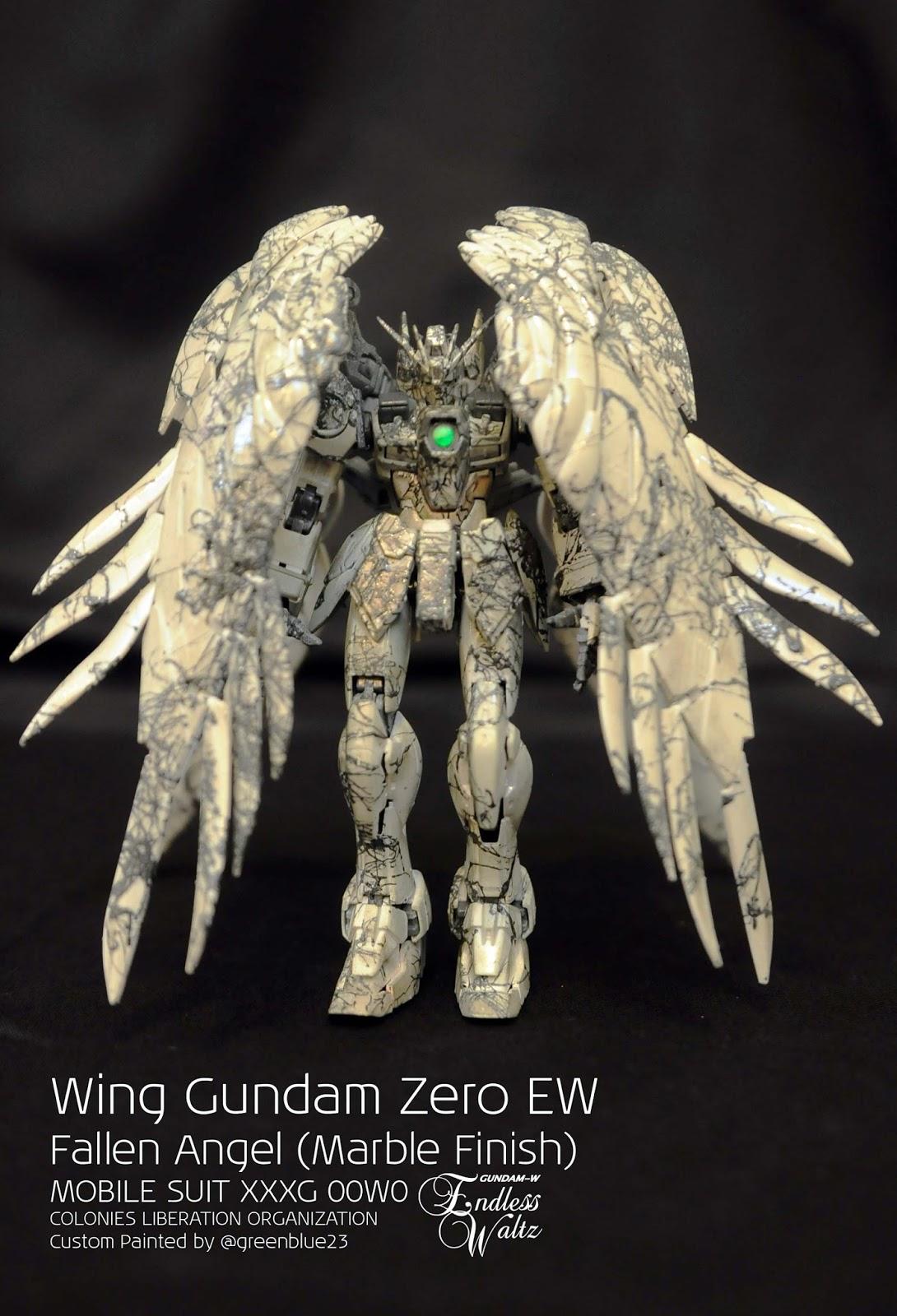 Custom Build Rg 1 144 Wing Gundam Zero Custom Ew Quot Fallen