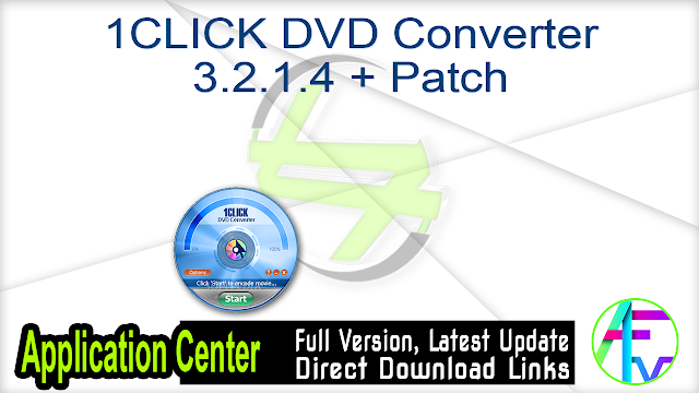 1CLICK DVD Converter 3.2.1.4 + Patch