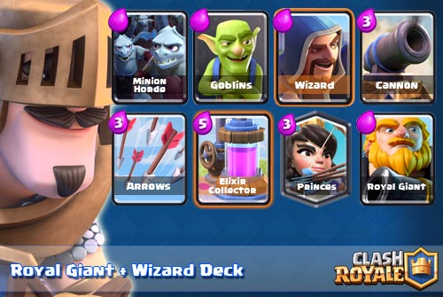 Deck Royal Giant Wizard Arena 7 8 Clash Royale