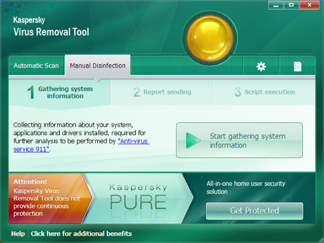 kaspersky virus removal tool interface free download full software