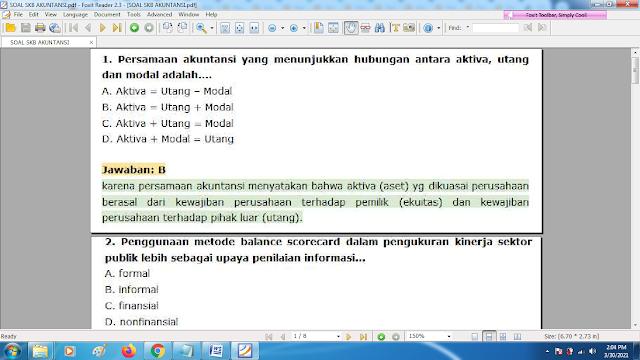 Download contoh soal pppk bidang akuntansi dan kunci jawaban