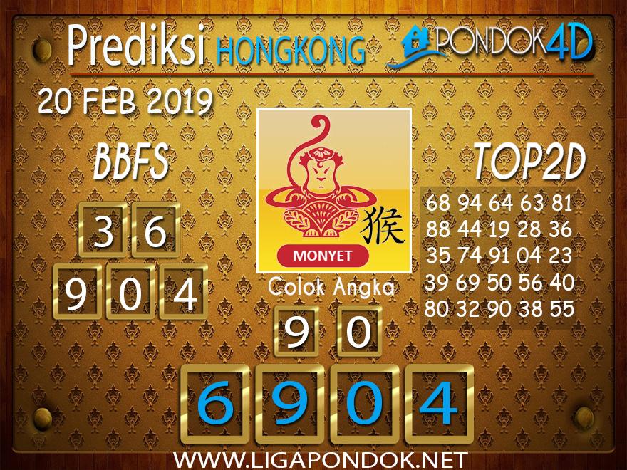 Prediksi Togel HONGKONG PONDOK4D 20 FEBRUARI 2019