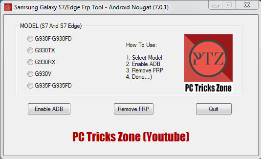Samsung Galaxy S7/Edge FRP Tool Android Nougat (7.0.1) Free Download