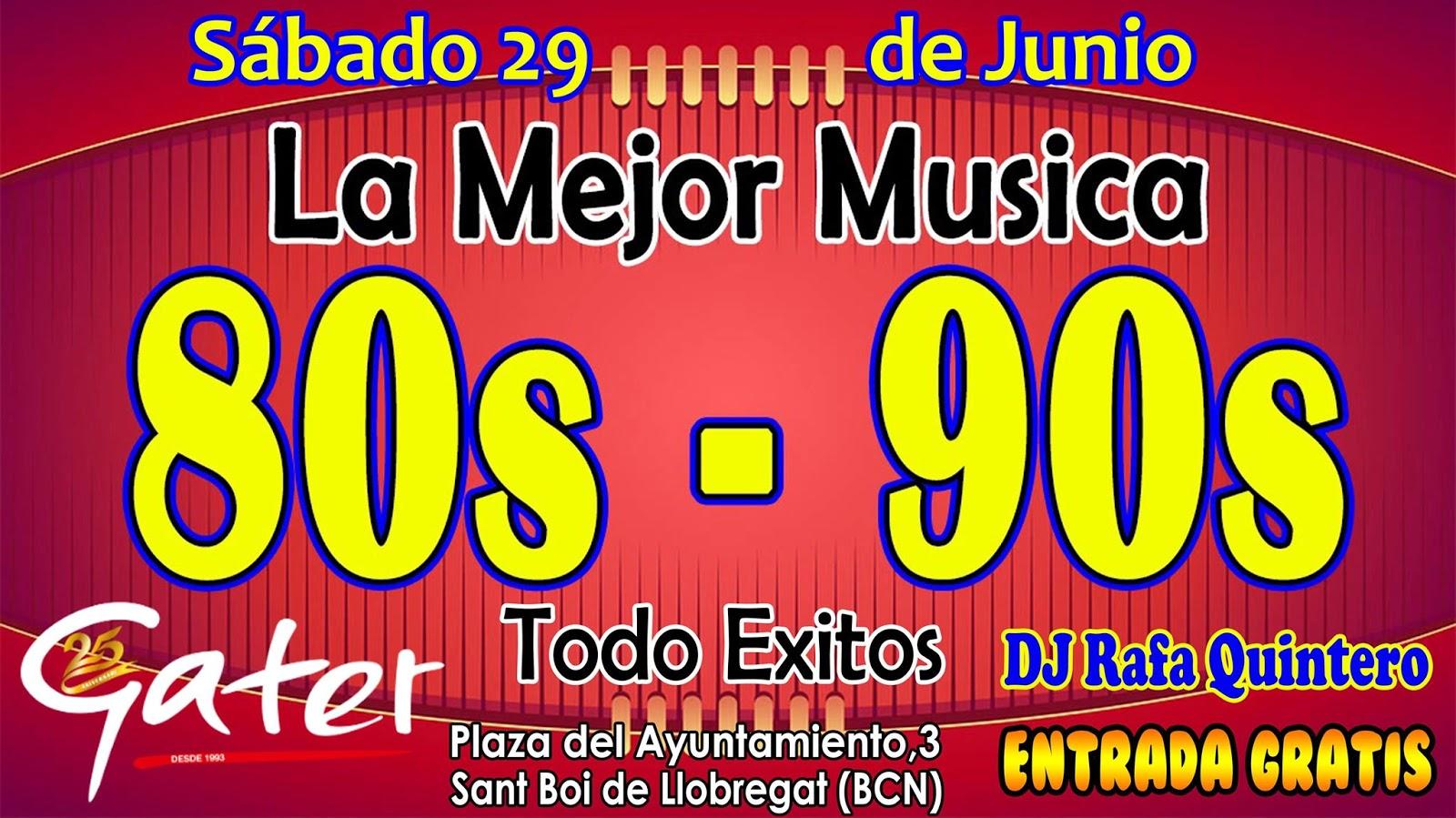 Flyer La Mejor Musica 80s - 90s Todo Exitos