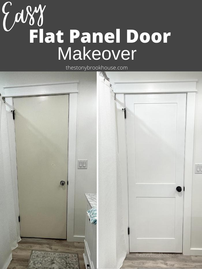 Easy Flat Panel Door Makeover