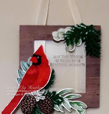 toile christmas hanging frames 4