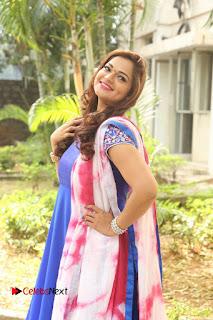 Actress Ashwini Stills in Blue Chudidar at Ameerpet Lo Release Press Meet  0171.JPG