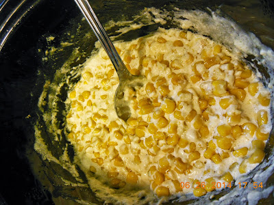 slow cooker side dish of creamy corn