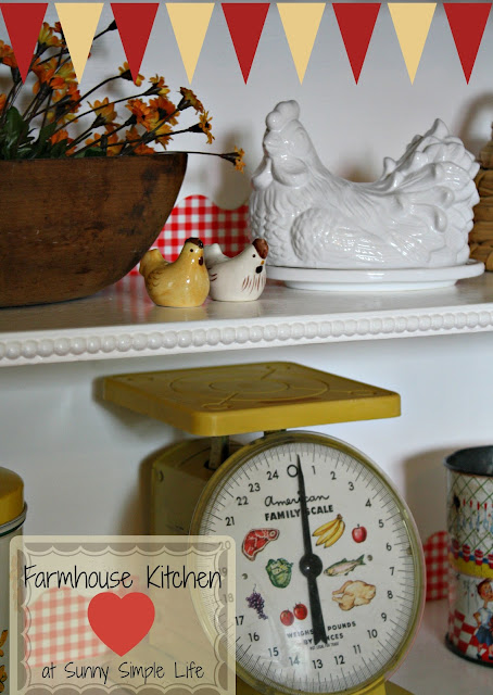 farmhouse decor, chickens, vintage kitchen