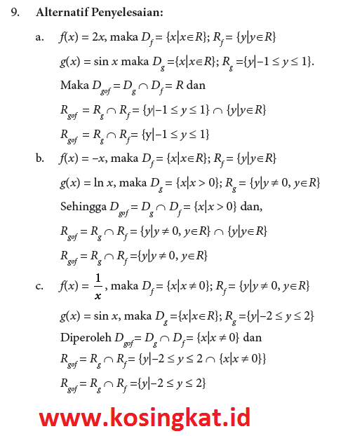 kunci jawaban uji kompetensi 3.1 matematika kelas 10 halaman 97, 98