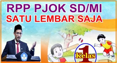 Download RPP 1 Lembar SDMI PJOK  Kelas 3 Semester 1