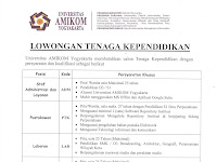 Lowongan Tenaga Kependidikan Universitas Amikom Yogyakarta