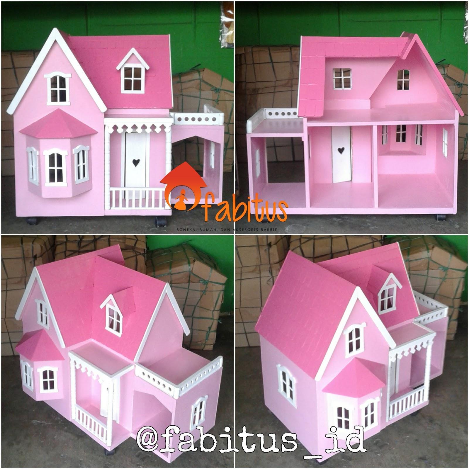 Rumah Boneka Barbie Villa Garasi Pink bd8933bfd5