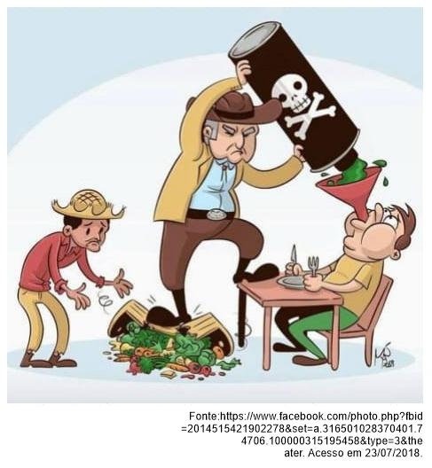 crítica ao uso indiscriminado de agrotóxicos