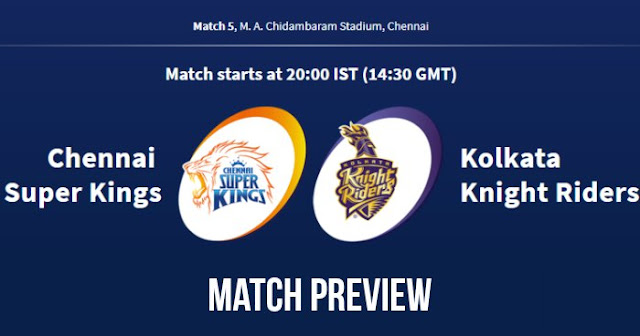 IPL 2018 Match 5 CSK vs KKR Preview, Prediction and Head to Head Who Will Win
