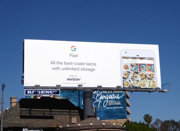 Google Pixel best coast tacos billboard