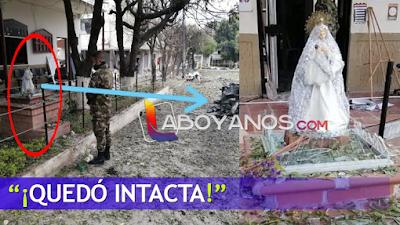 """""""Eso sí es un milagro"""": virgen quedó intacta, a pocos metros del carro bomba en Cúcuta"""