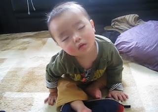 A Cute Baby Sleeping Funny Video