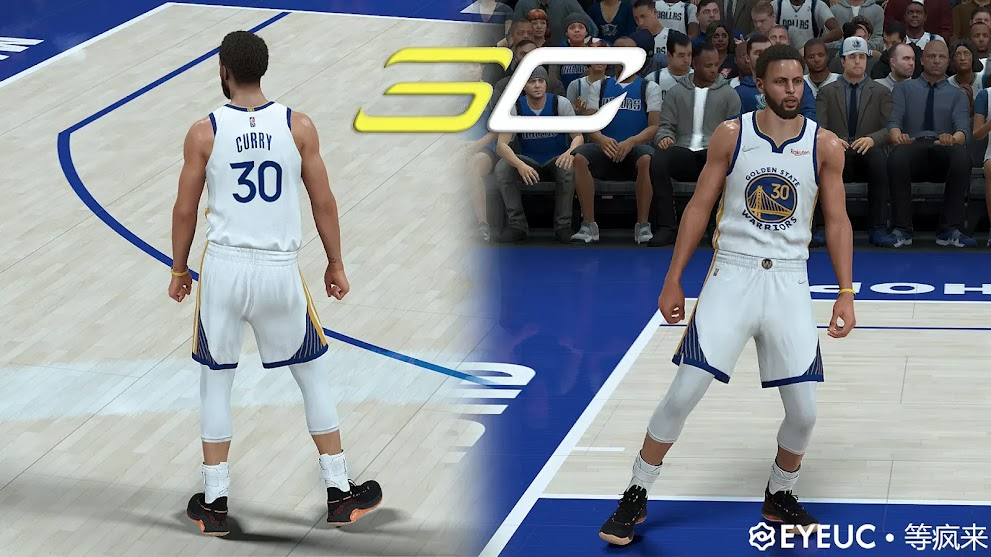 NBA 2K22 Stephen Curry Cyberface and Body Model v2.0 by Wait for madness