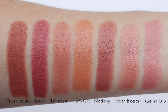 My MAC Nude Lipstick Collection swatches