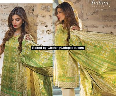 Khadijah Shah Sapphire Lawn 2016-2017 Vol-1