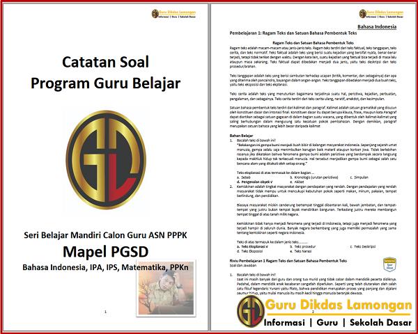 Catatan Soal Seri Belajar Mandiri Calon Guru ASN PPPK Mapel PGSD