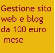 Offerta gestione sito web 100 euro