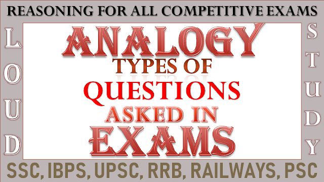 Analogy for Competitive Exams