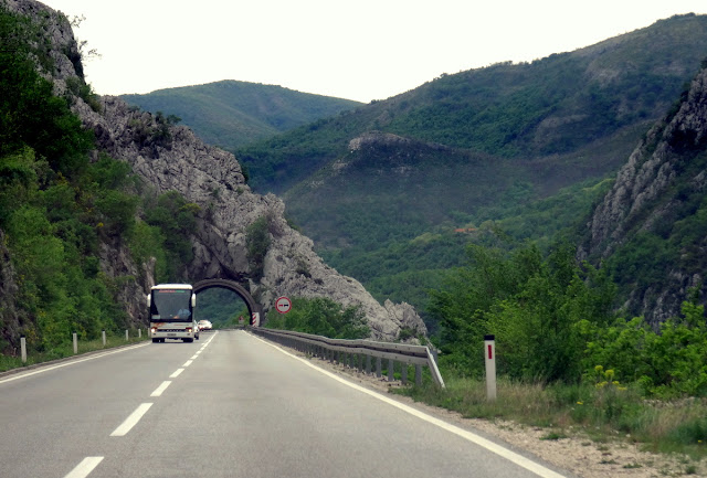 Canyons on Neretva River on the road to Dubrovnik from Mostar