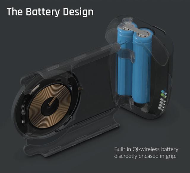 【攝影器材】手機就是專業相機,ShiftCam ProGrip 手機攝影全新體驗 - ProGrip 握把內建了 5200 mAh 電源、Qi 無線充電