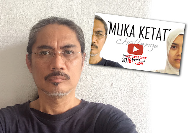 Uncle Gedek Cabar Selfie Muka Ketat