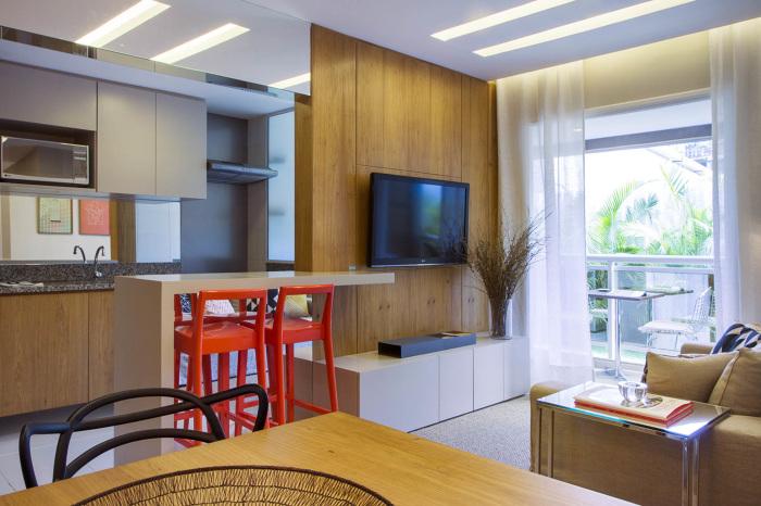 Tamanho Sofa Sala Pequena ~ Pequenas salas de estar e jantar integradas!  Jeito de Casa  Blog