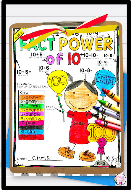 Let your 1st grade and 2nd grade students practice their addition facts with this 100th Day of School Math Fun FREEBIE! Great for homeschool too! With this FREE download, your 100s day party is sure to be a hit - and students won't even realize they're still learning! Click through now to grab your free copy to use in January or February - whenever your 100th Day party happens to fall. {first, second grader}