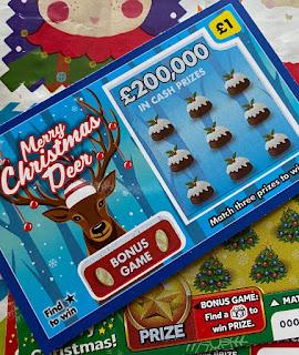 £1 Merry Christmas Deer Scratchcard