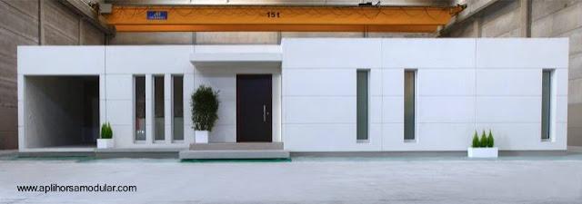 Casa moderna prefabricada modular española
