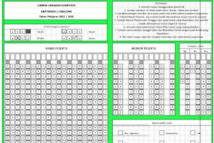 Berkas Sekolah : Download Contoh Lembar Jawaban Komputer (LJK) UN/US Semua Jenjang