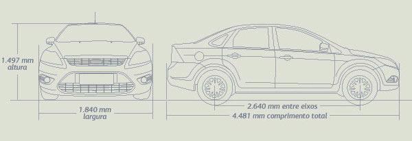 Ford Focus Sedan: Dimensões e especificações do Focus Sedan