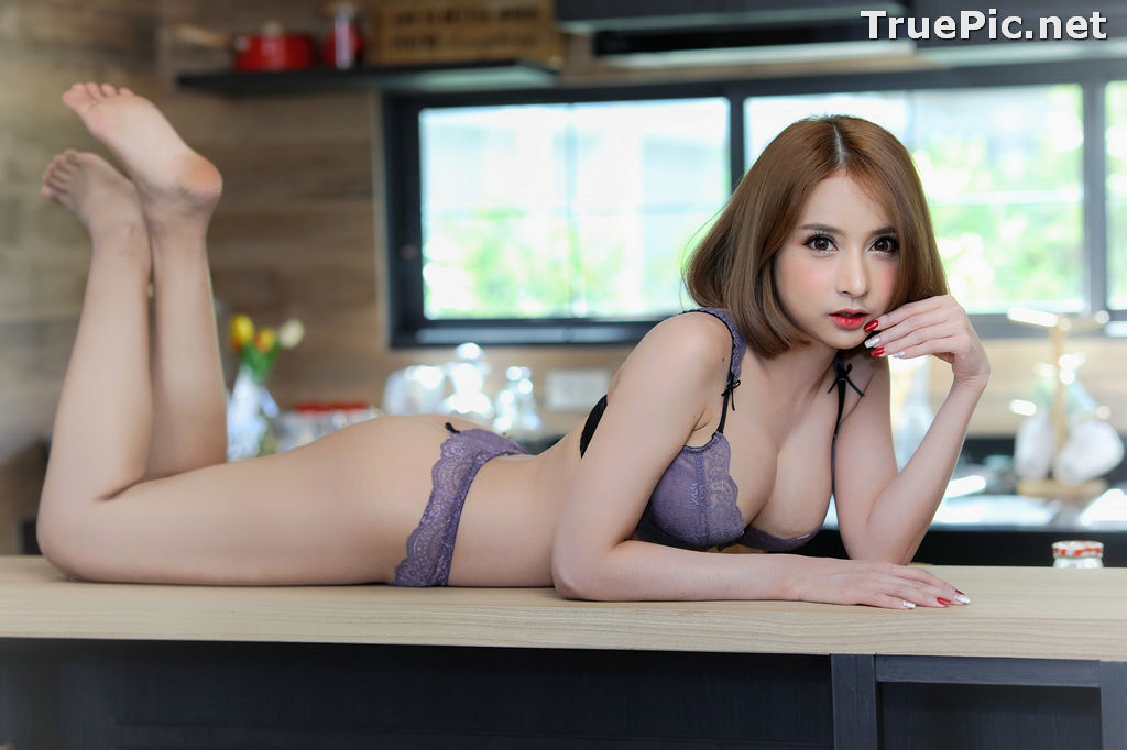 Image Thailand Model - ธนพร อ้นเซ่ง - Sexy In Purple Lingerie - TruePic.net - Picture-6