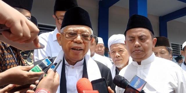 KH Ma'ruf Amin Tegur  MUI Jakarta Soal Munajat 212 : Jangan Pakai MUI Jadi Kendaraan Politik!