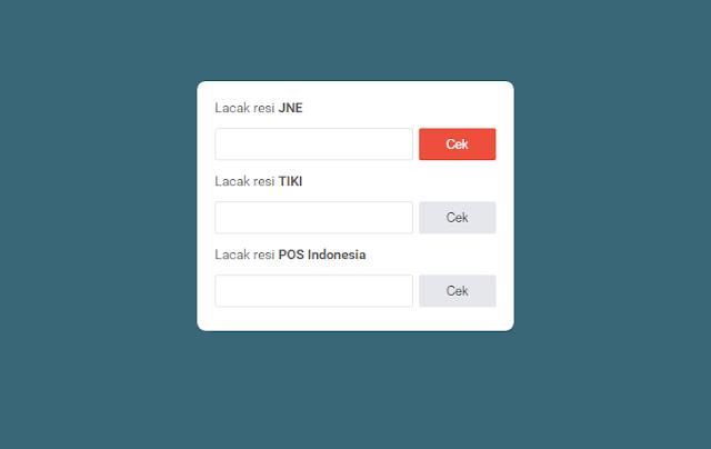 Installing the JNE Widget, TIKI, Pos Indonesia
