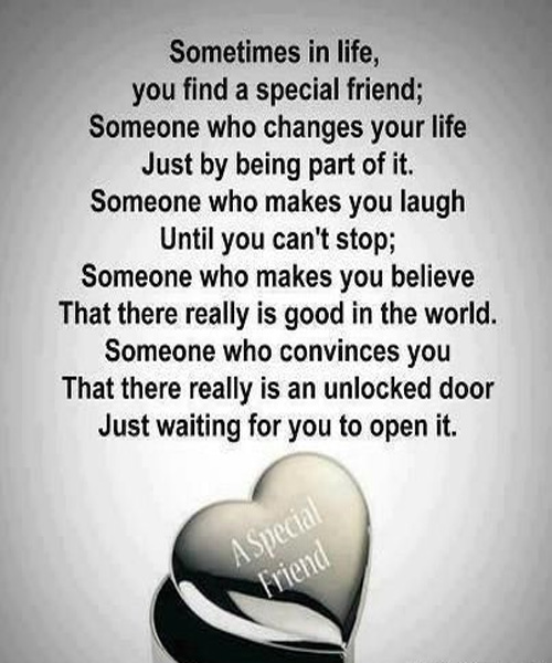 Some Special Quotes About Friendship Extraordinary Inspirational Quotes For Special Friend With Famous Love Messages