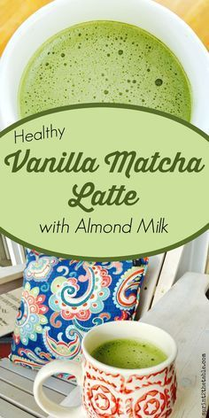 Healthy #Vanilla #Matcha #Latte #with #Almond #Milk