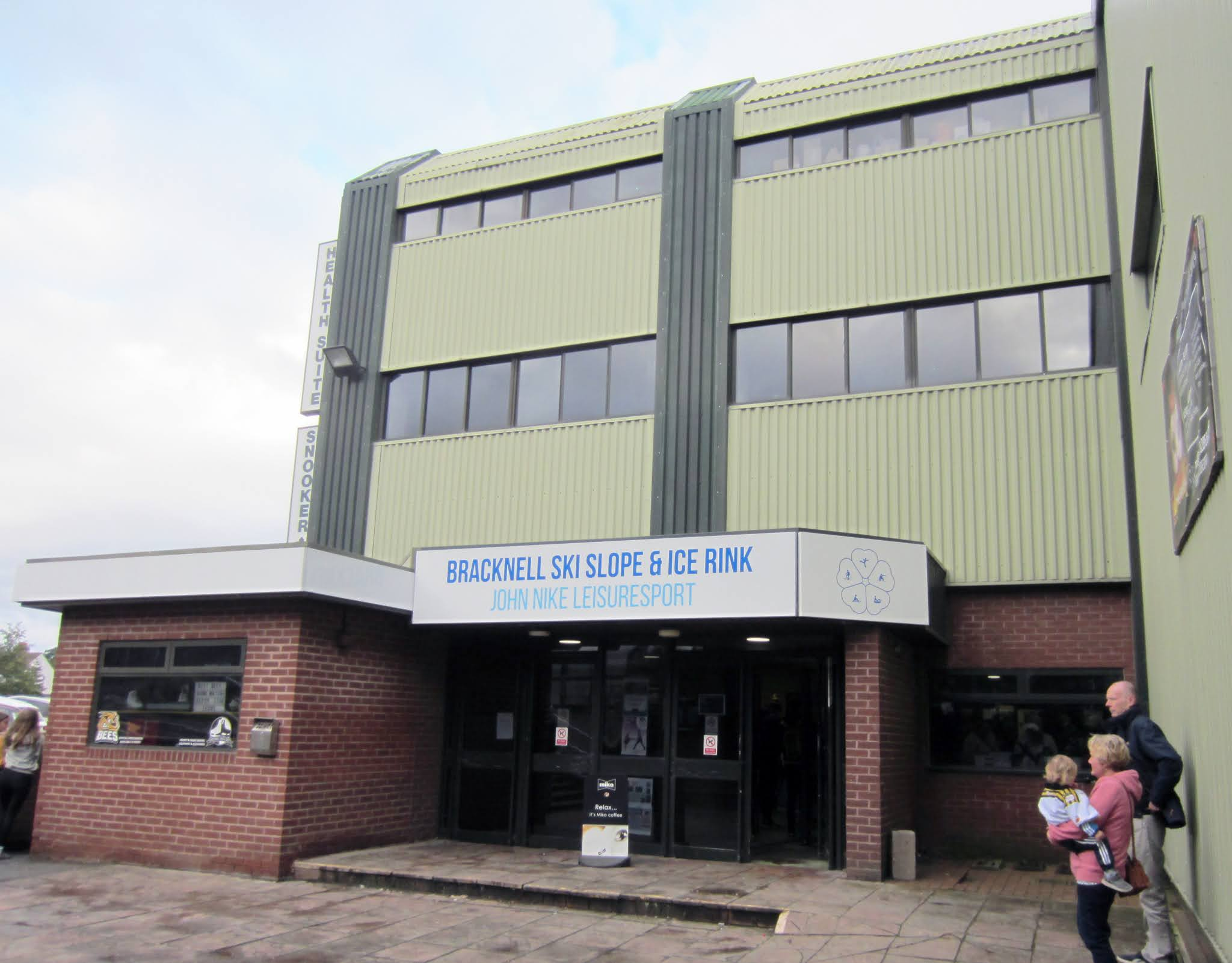 Main entrance to the Bracknell Ice Rink